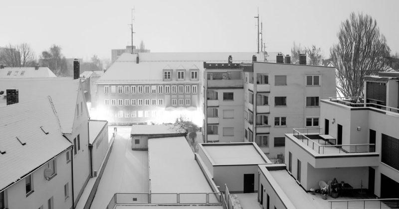 Buildings en hiver