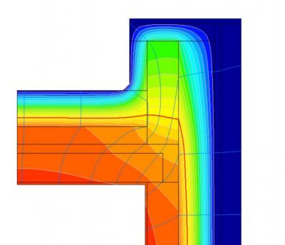 Coefficient de transmission thermique des nœuds constructifs