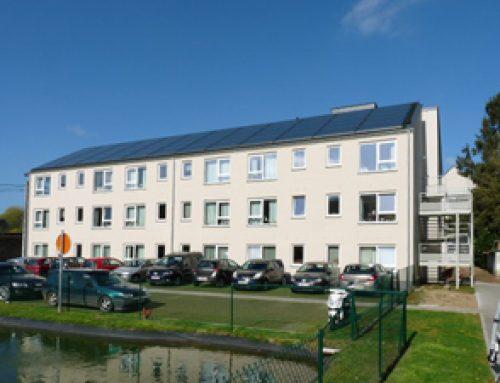 150 m² de capteurs solaires thermiques à la résidence 3ème âge Aux Lilas de Bonlez