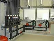Photo système de chauffage central.