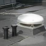 Photo cheminée de ventilation.