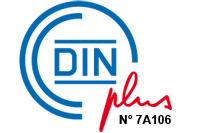 Logo normes allemandes DINplus.
