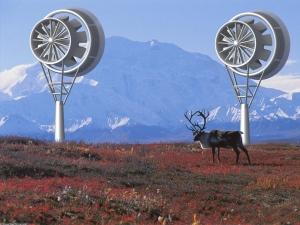 Photo éoliennes carénées.