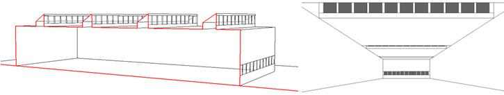 Schéma ouvertures verticales vers le nord en toiture - 2.