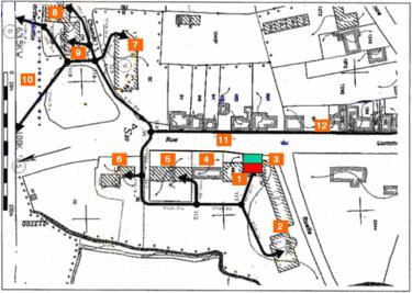 Plan- description du réseau de chaleur.