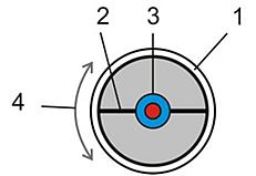 Schéma composition des tubes sous vide avec ailette absorbante