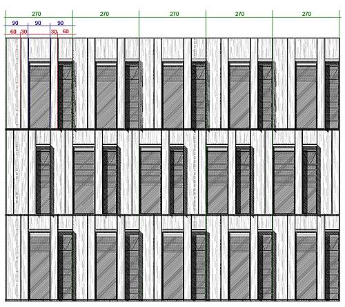 Plan façade, AEROPOLIS II