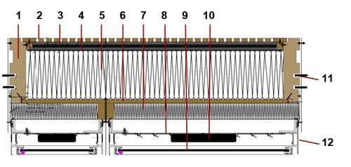 schéma - Composition des modules préfabriqués, AEROPOLIS II