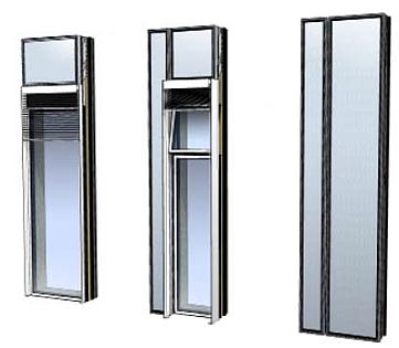 modules partiellement vitrés, AEROPOLIS II