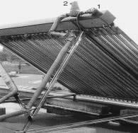 Photo capteur solaire sous vide.