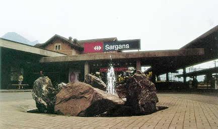 Photo gare de Sargans.