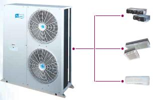 Photo système de climatisation à eau glacée.