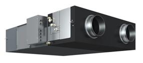Photo traitement d'air double flux avec une batterie à détente directe.