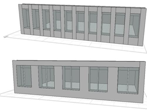 Les façades des bureaux