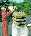 Photo nettoyage de la cheminée.