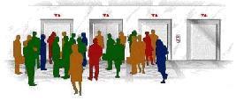 Schéma ascenseur gestion classique collective