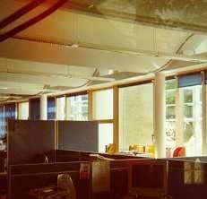 Phot des plafonds du bâtiment environnemental du BRE.