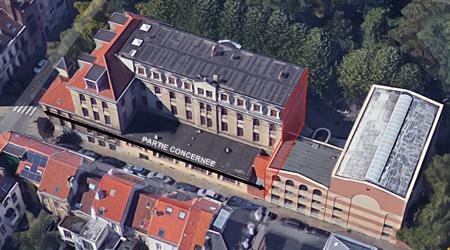 photo aérienne bâtiment.