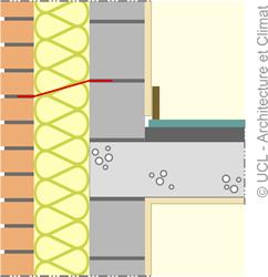 Schéma isolation et jonction avec un plancher.
