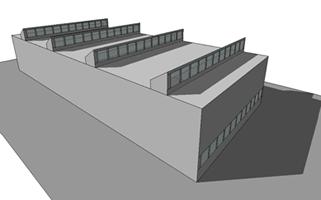 Schéma ouvertures verticales en toiture.