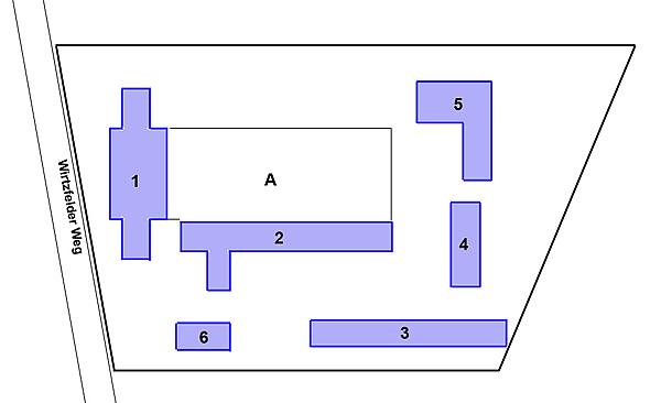 Plan du bâtiment, situation existante.
