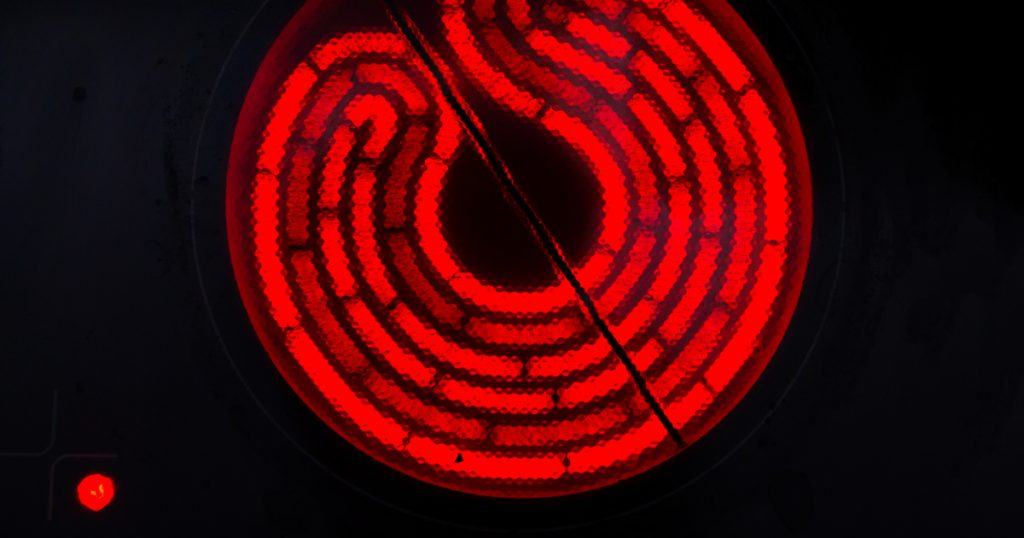 Plaque de cuisson vitrocéramique à infrarouges
